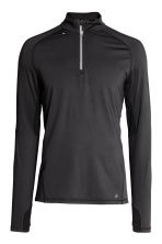 Running top with a collar - Black - Men | H&M 2