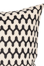 Patterned cushion cover - Natural white/Anthracite grey - Home All | H&M CN 2