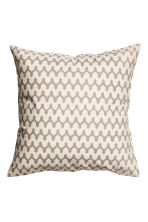 Copricuscino fantasia - Bianco naturale/beige - HOME | H&M IT 1