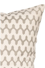 Patterned cushion cover - Natural white/Beige - Home All | H&M CN 2