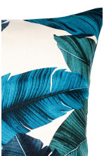 Leaf-patterned cushion cover - Natural white/Dark blue - Home All | H&M CN 2