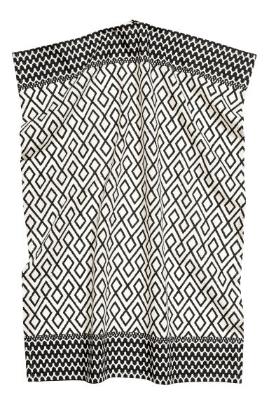 Patterned tea towel - Natural white/Anthracite grey - Home All | H&M CN 1