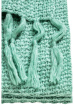 Moss-knit blanket - Turquoise - Home All | H&M GB 2