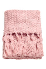 Moss-knit blanket - Light pink - Home All | H&M CN 1
