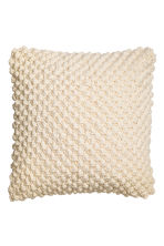 Knitted cushion cover - Natural white - Home All | H&M CN 1