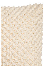 Knitted cushion cover - Natural white - Home All | H&M CN 2