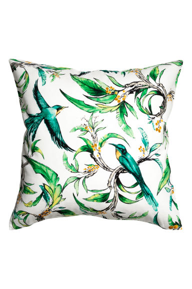 Printed cushion cover - White/Birds - Home All | H&M CN 1