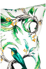 Printed cushion cover - White/Birds - Home All | H&M CN 2