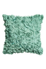 Cushion cover with flowers - Turquoise - Home All | H&M CN 1