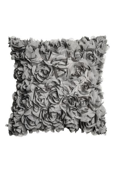 Cushion cover with flowers - Grey - Home All | H&M CN 1
