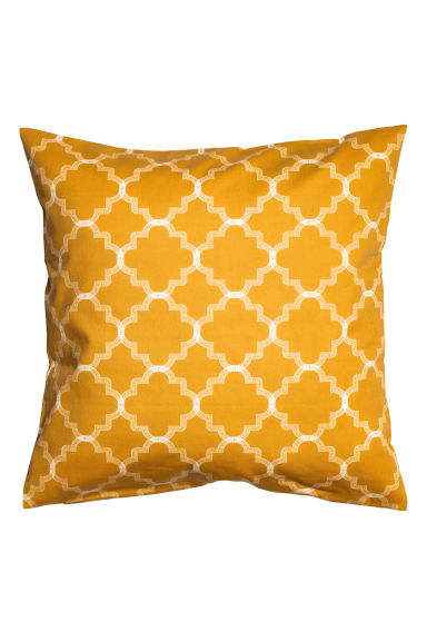 Printed cushion cover - Mustard yellow - Home All | H&M CN 1