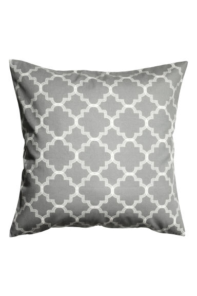 Printed cushion cover - Grey - Home All | H&M CN 1