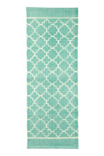 Patterned cotton rug - Turquoise - Home All | H&M CN 2