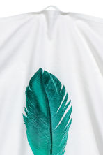 Tea towel with feather motif - White - Home All | H&M CN 3