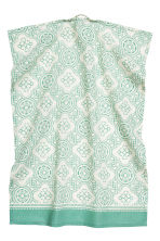 Patterned tea towel - Nat. white/Turquoise - Home All | H&M CN 2