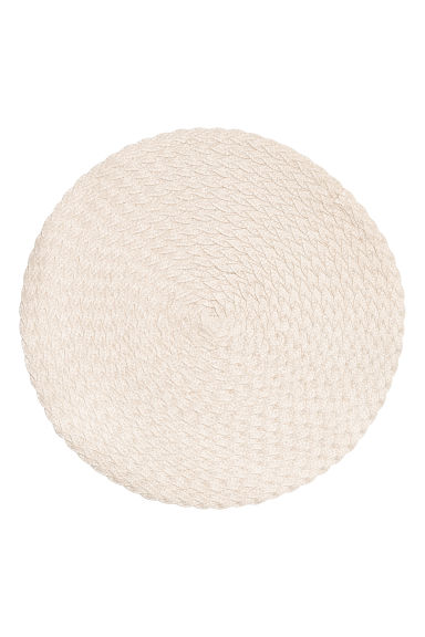 2-pack round table mats - 白色 - Home All | H&M CN 1