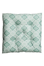 Patterned seat pad - Turquoise - Home All | H&M CN 2