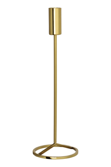 Tall candlestick - Gold - Home All | H&M GB