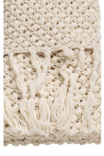 Chunky-knit blanket - Natural white - Home All | H&M CN 2