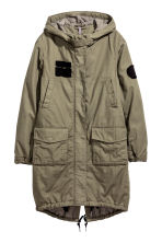 Parka in cotone - Verde kaki - DONNA | H&M IT 2
