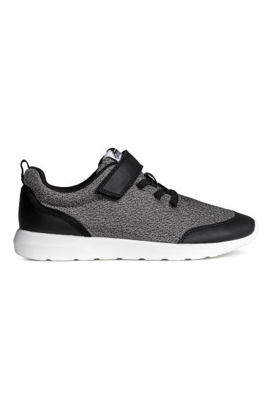 Mesh trainers - Black marl - Kids | H&M CN 1