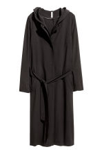 Coat with a hood - Black - Ladies | H&M CN 2