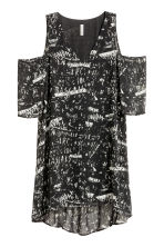 Cold shoulder dress - Black/Patterned - Ladies | H&M CN 2