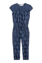 Patterned jumpsuit - Blue -  | H&M 2
