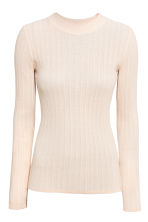 Rib-knit jumper - Light beige - Ladies | H&M CN 2