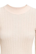 Rib-knit jumper - Light beige - Ladies | H&M CN 3