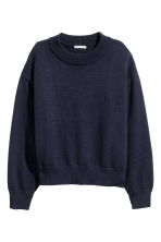 Knitted jumper - Dark blue -  | H&M 2