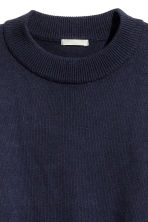 Knitted jumper - Dark blue - Ladies | H&M CN 3