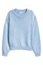 Knitted jumper - Light blue marl - Ladies | H&M CN 2