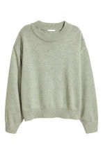 Knitted jumper - Light green marl - Ladies | H&M GB 2