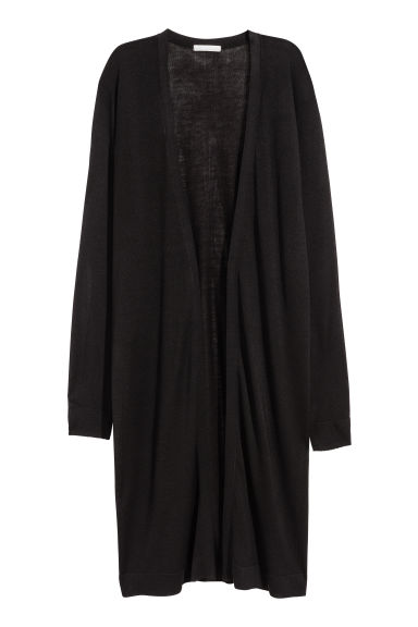 Long cardigan - Black - Ladies | H&M CN 1