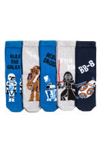 5-pack anti-slip socks - Dark blue/Star Wars - Kids | H&M CN 1