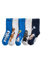5-pack anti-slip socks - Dark blue/Star Wars - Kids | H&M CN 2