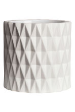 Textured plant pot - White - Home All | H&M CN 2