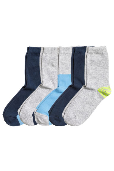 5-pack socks - Light blue - Kids | H&M 1