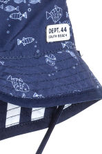 Reversible sun hat - Dark blue/Striped - Kids | H&M 3