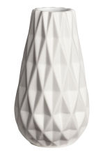 Textured vase - White - Home All | H&M IE 2
