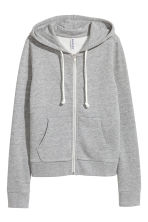 Hooded jacket - Grey marl - Ladies | H&M CA 2