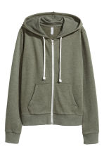 Hooded jacket - Green marl -  | H&M CA 3