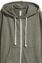 Hooded jacket - Green marl -  | H&M CA 4