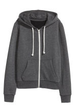 Hooded jacket - Dark grey marl - Ladies | H&M 3