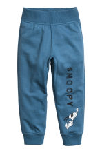 Printed joggers - Blue/Snoopy - Kids | H&M 2