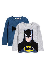 Lot de 2 T-shirts - Gris/Batman - ENFANT | H&M FR 2