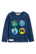 2-pack long-sleeved T-shirts - Dark blue/Lego -  | H&M 3