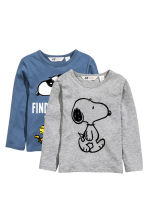Lot de 2 T-shirts - Bleu/Snoopy -  | H&M FR 2