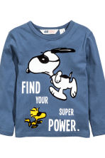 Lot de 2 T-shirts - Bleu/Snoopy -  | H&M FR 4